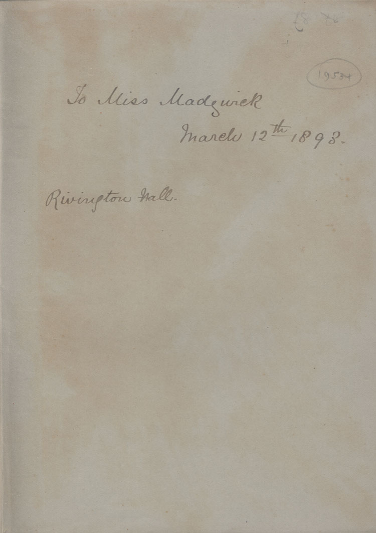 Handwritten Dedication